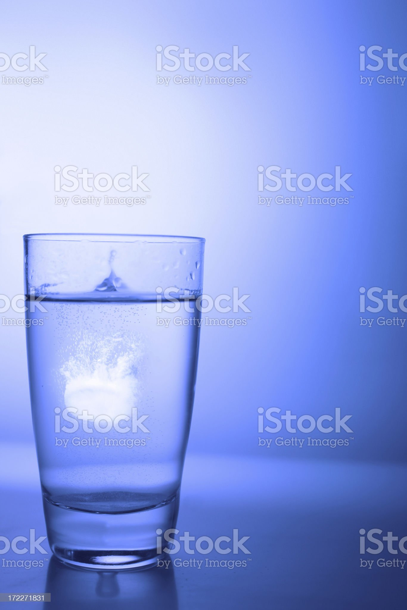 asprin disolving in water royalty-free stock photo
