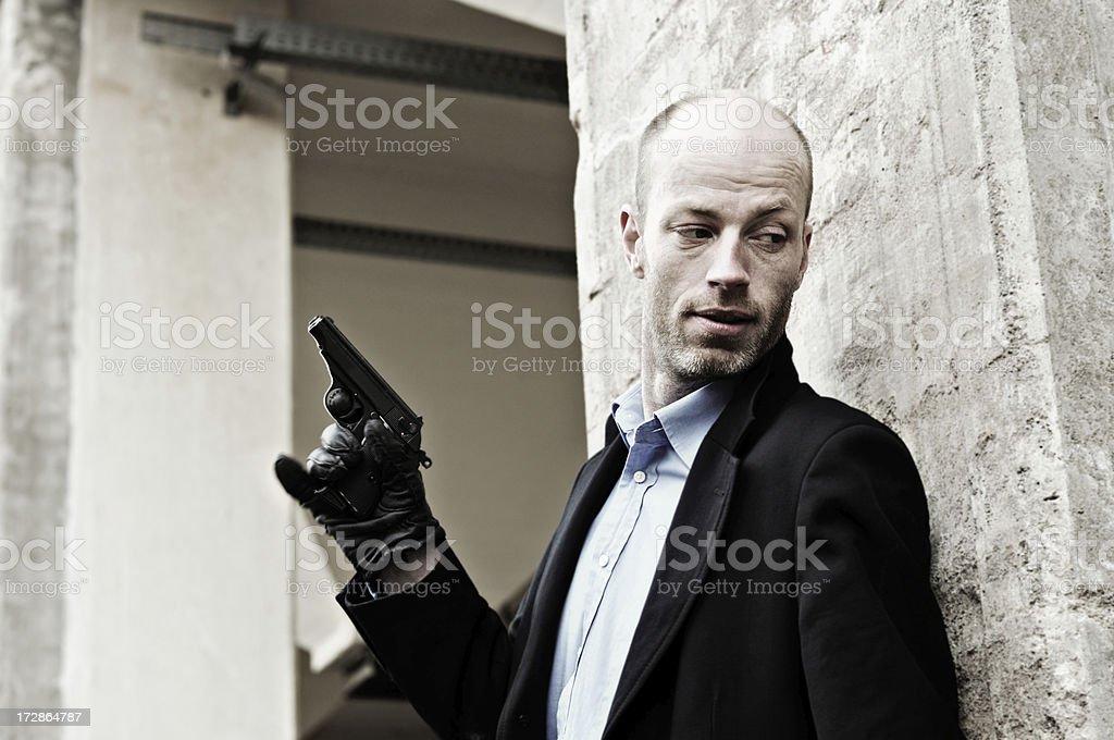 assassin lurks stock photo