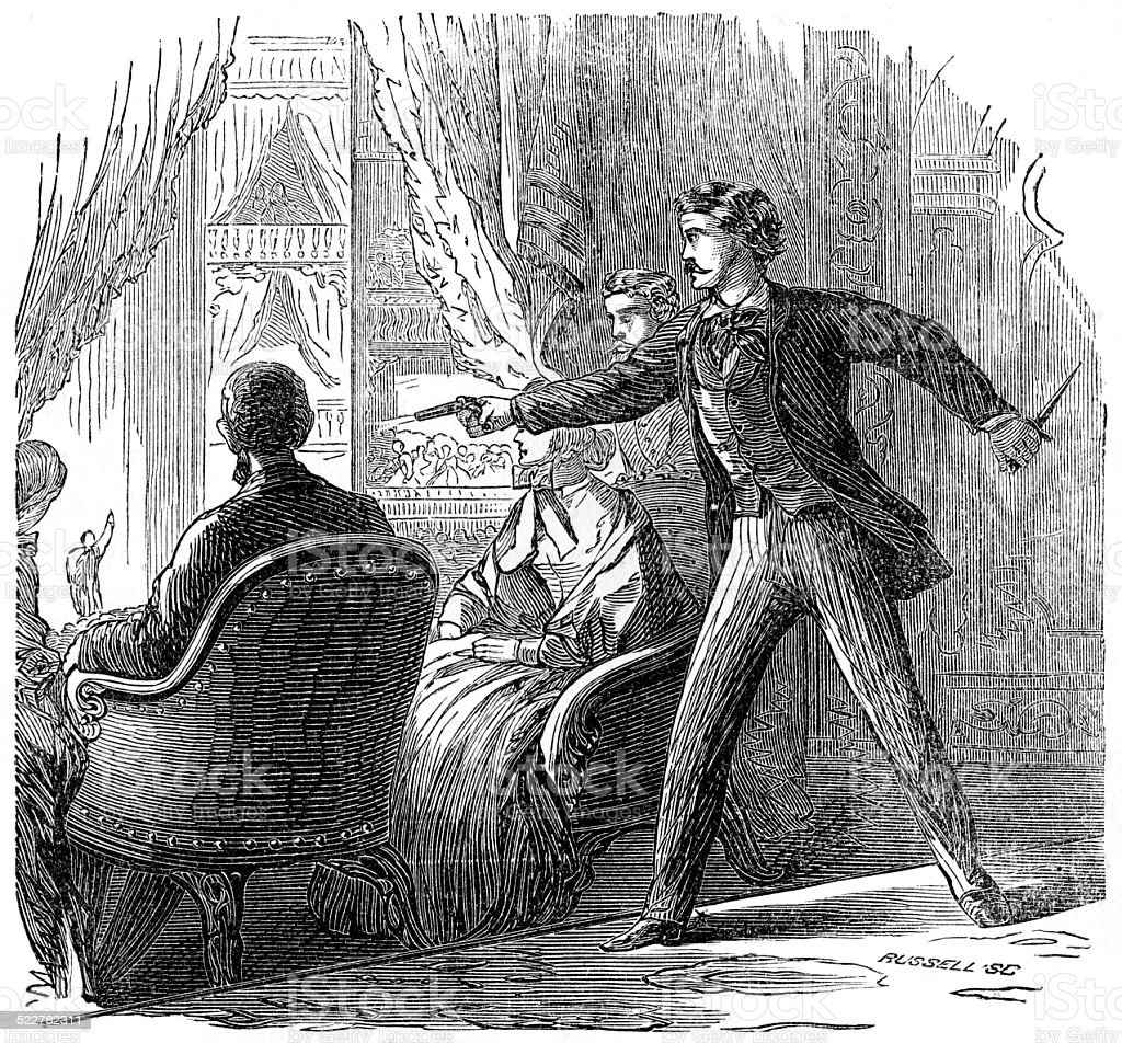 Assassination of Abraham Lincoln stock photo