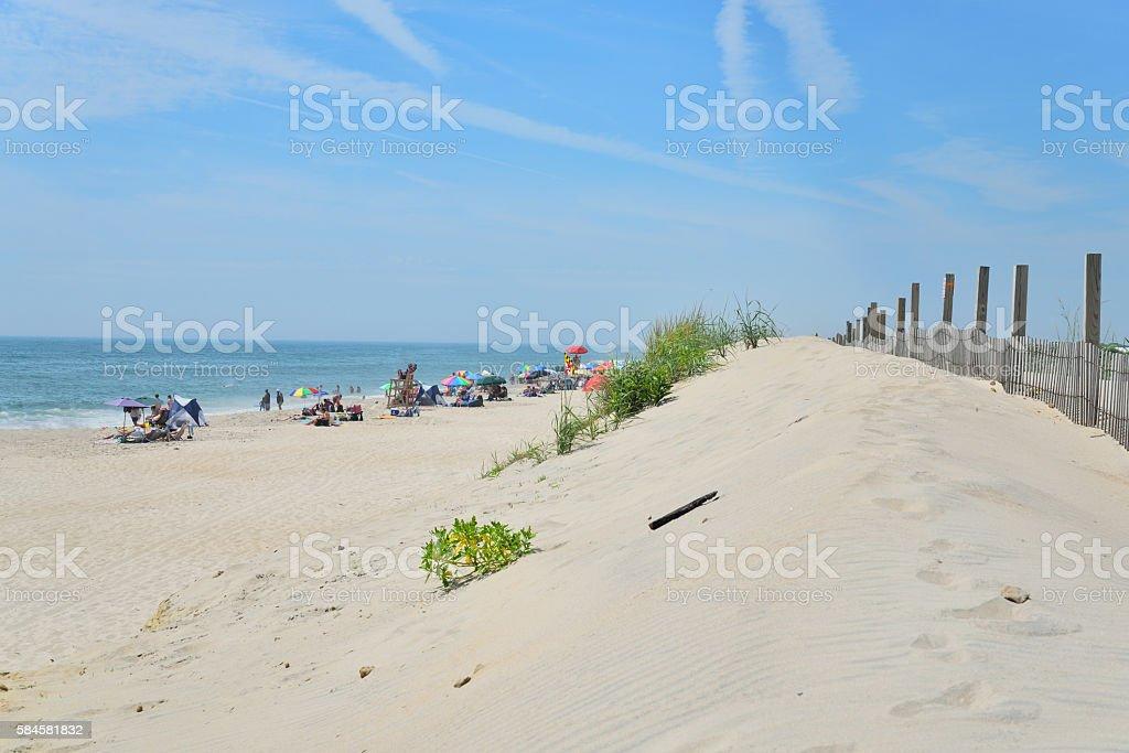 Assateague Isaland State Park Beach Tourism stock photo