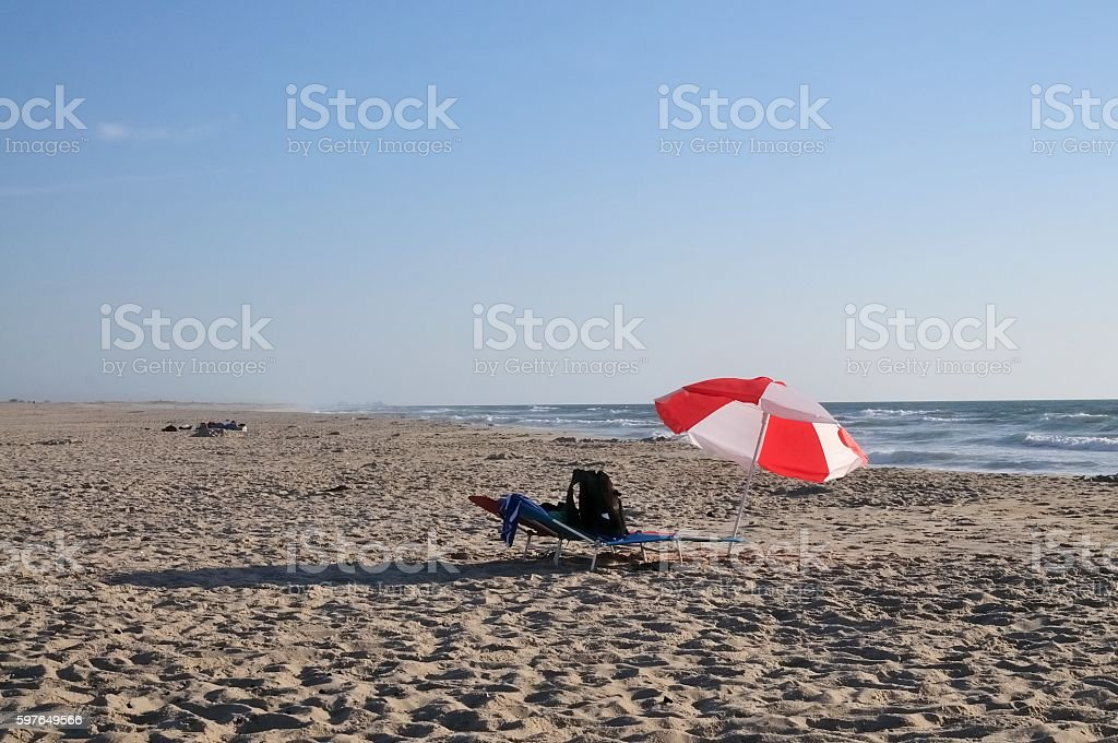 Assateague Island Beach Umbrella stock photo