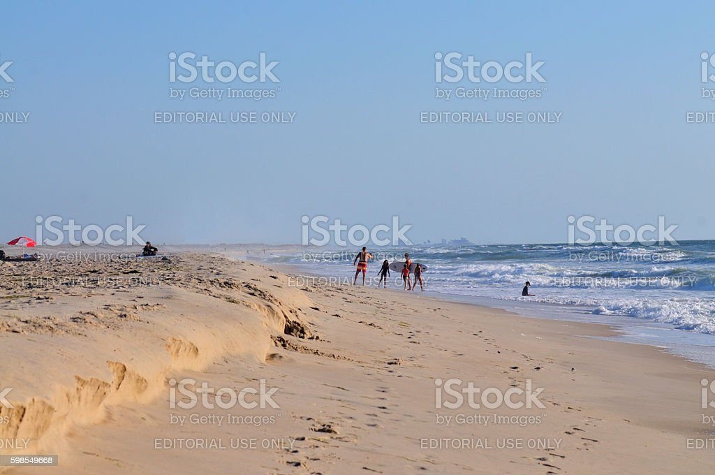 Assateague Island Fathers and Children stock photo