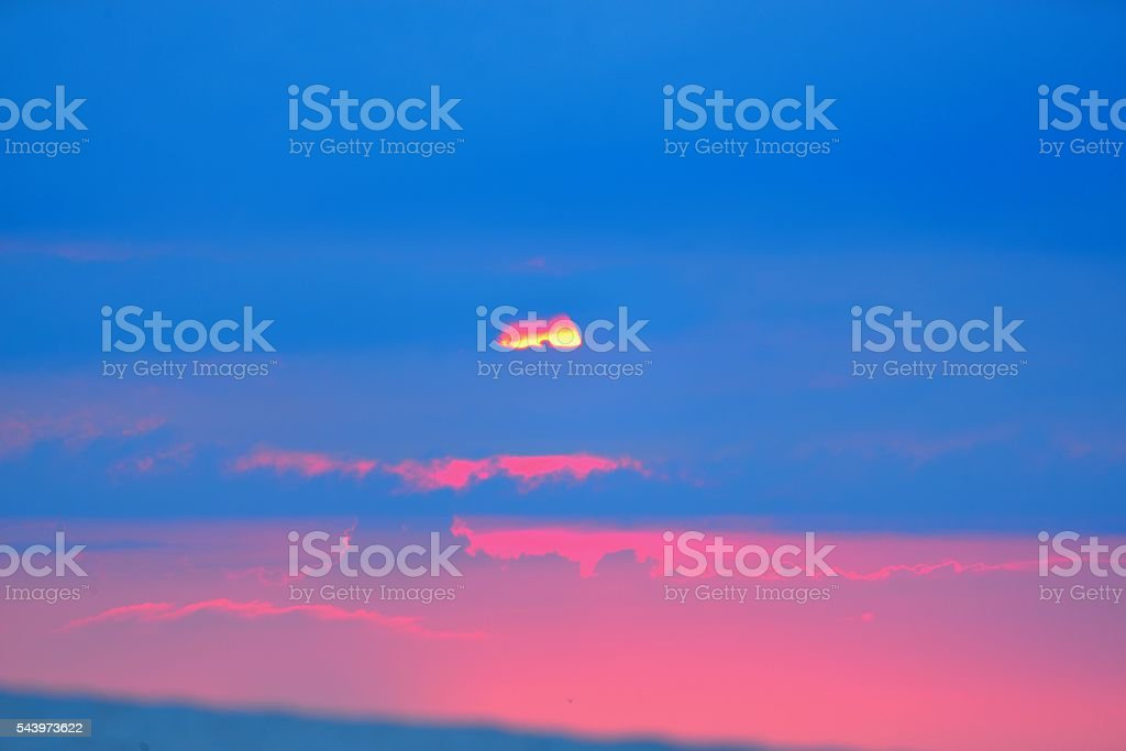 Assateague Island National Shore Sunset stock photo