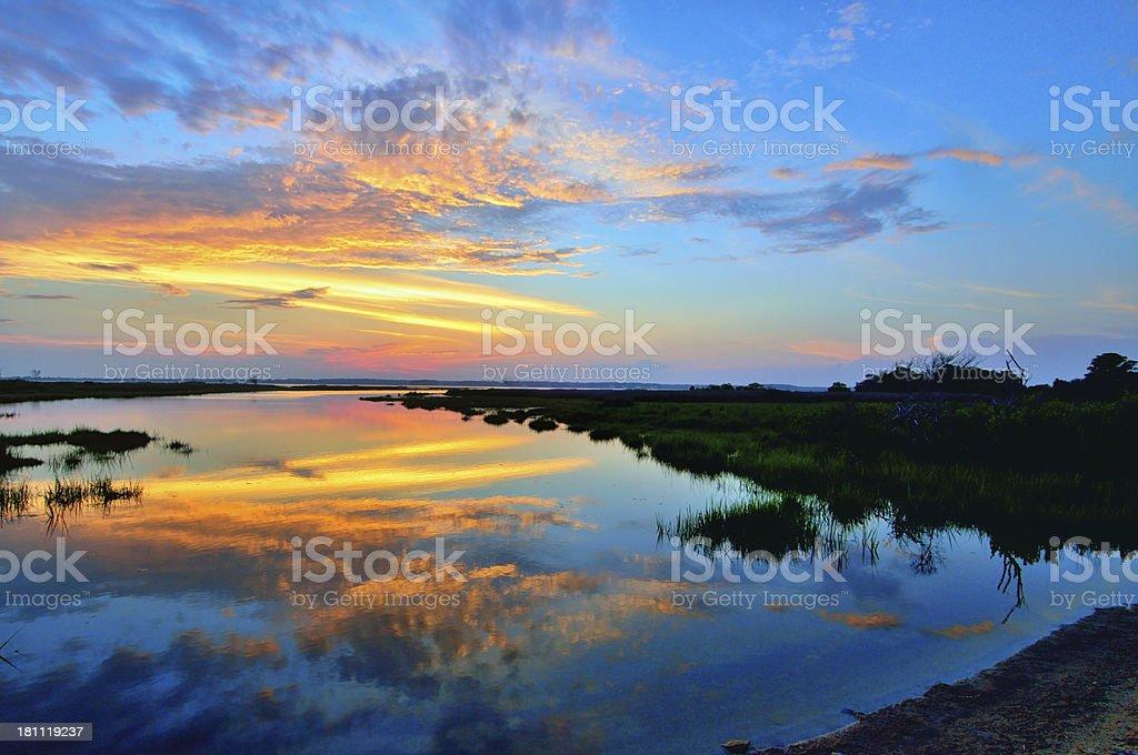 Assateague Island  Sundown stock photo