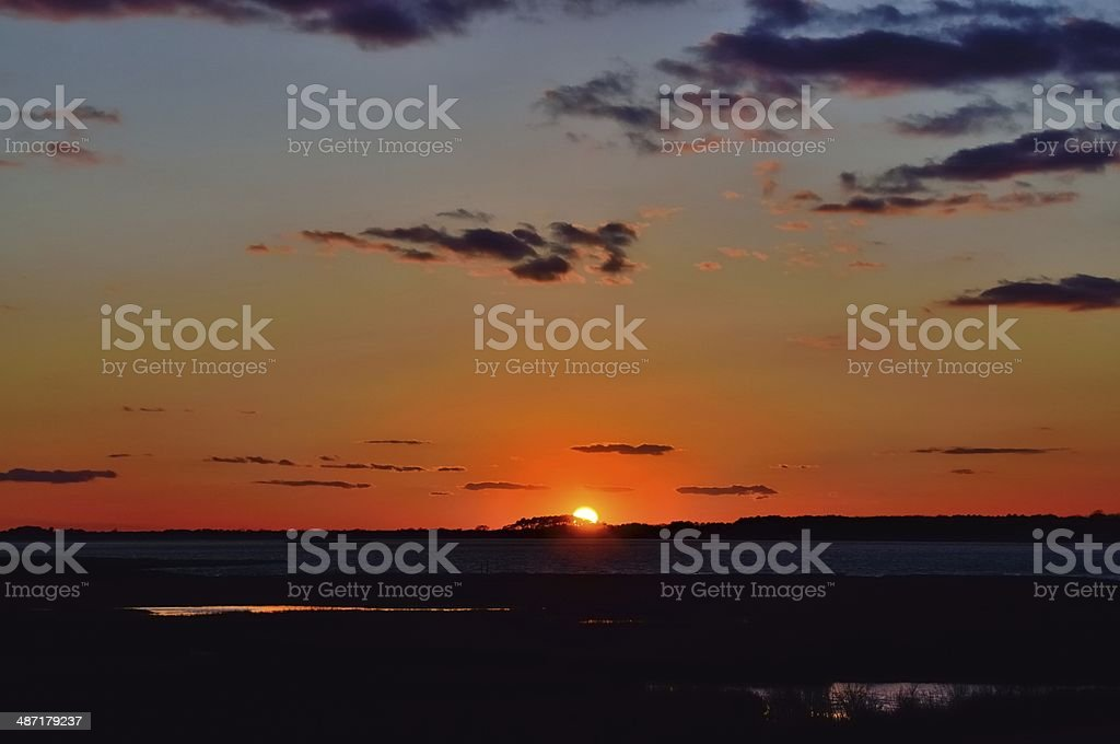 Assateague Island Sunset stock photo