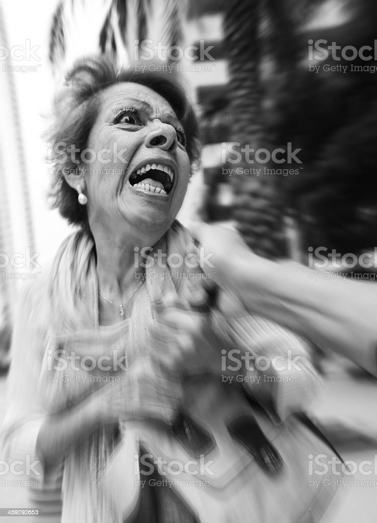 Assault! stock photo