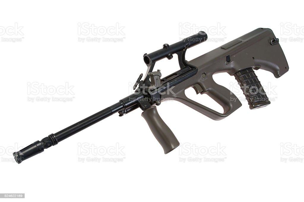 assault rifle isolated stock photo
