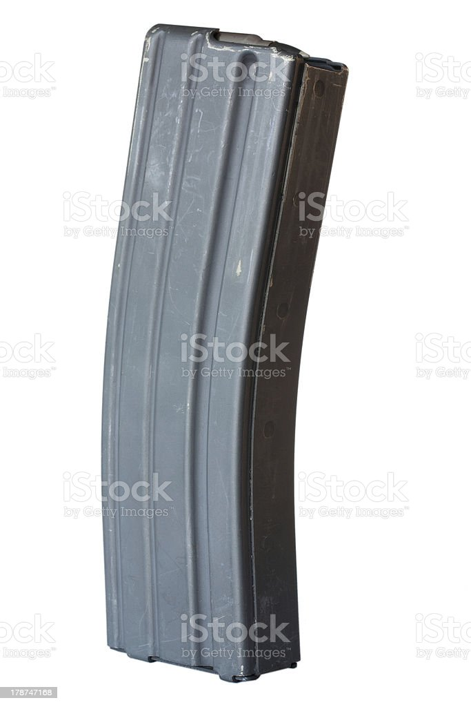 Assault rifle magazine stock photo
