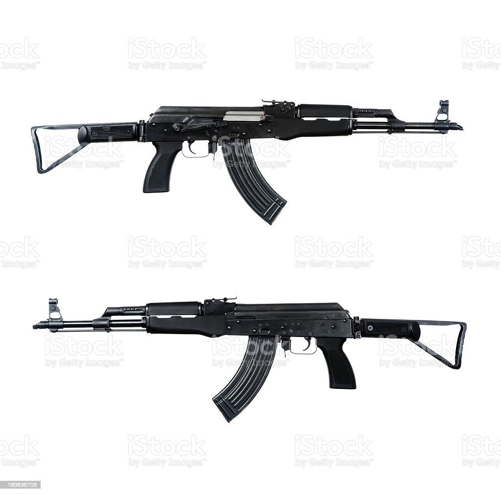 AK-47 assault rifle stock photo