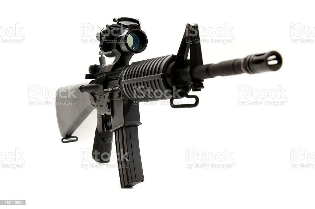 M4 assault rifle royalty-free stock photo
