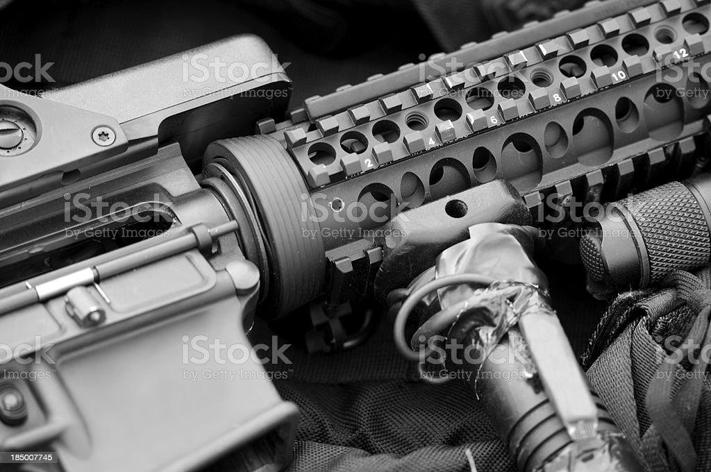 AR-15 Assault Rifle royalty-free stock photo