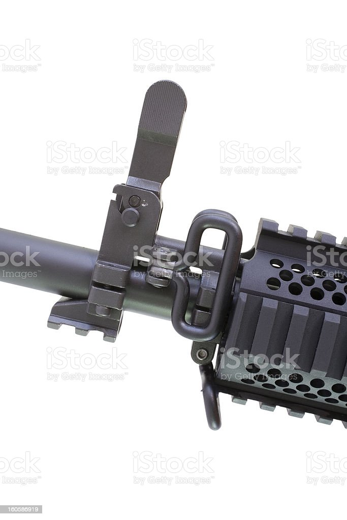 Assault rifle sight royalty-free stock photo