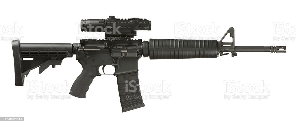 AR-15 Assault Weapon stock photo