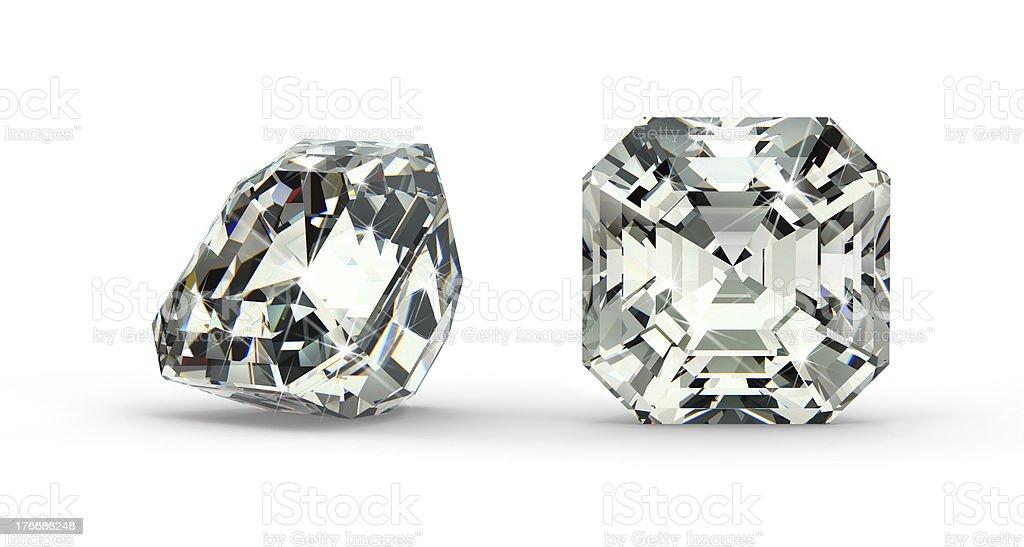 Asscher Cut Diamond royalty-free stock photo