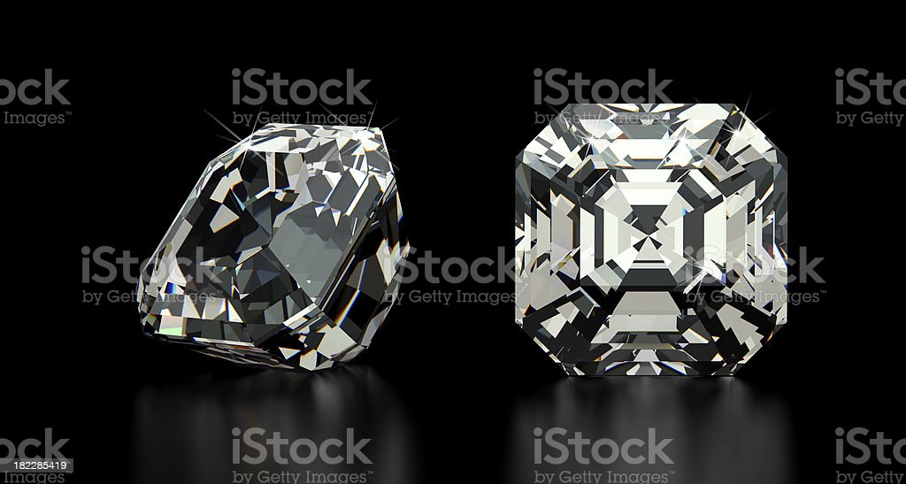 Asscher Cut Diamond stock photo