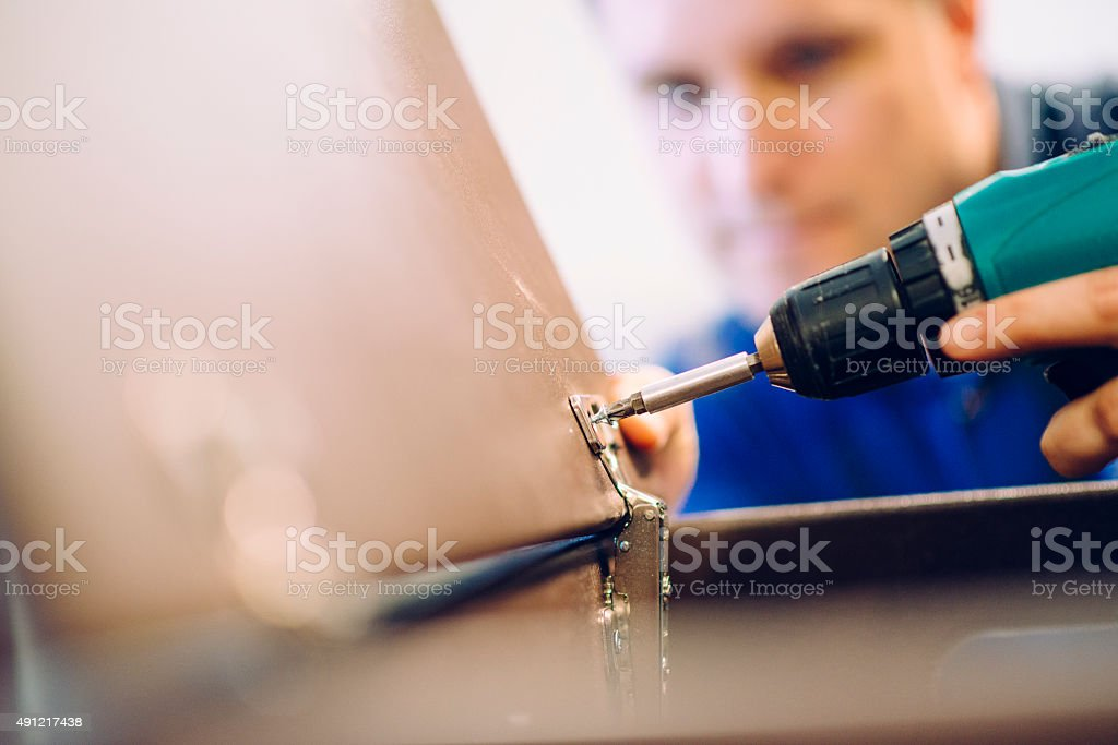Assembling Cabinet stock photo