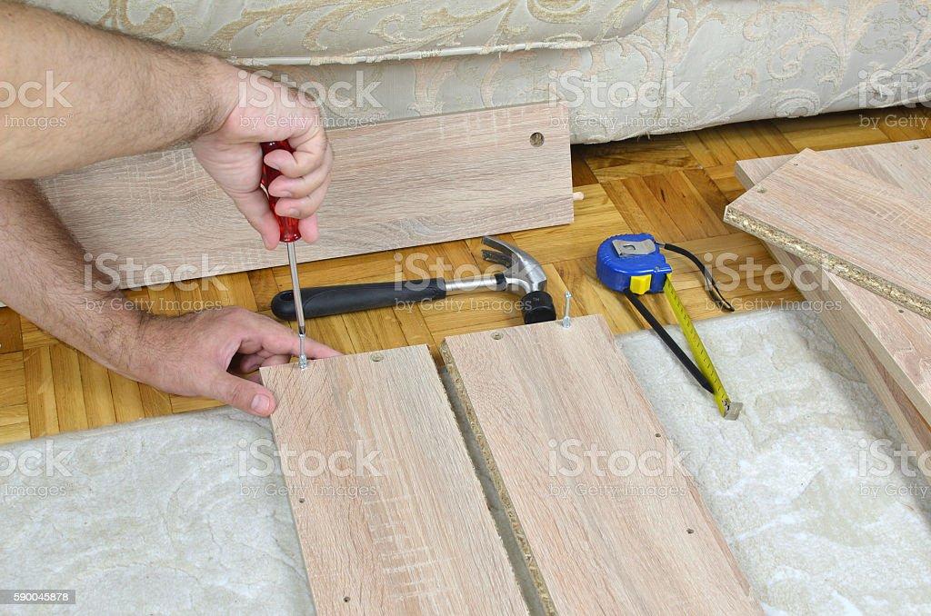 Assembling Furniture Parts stock photo