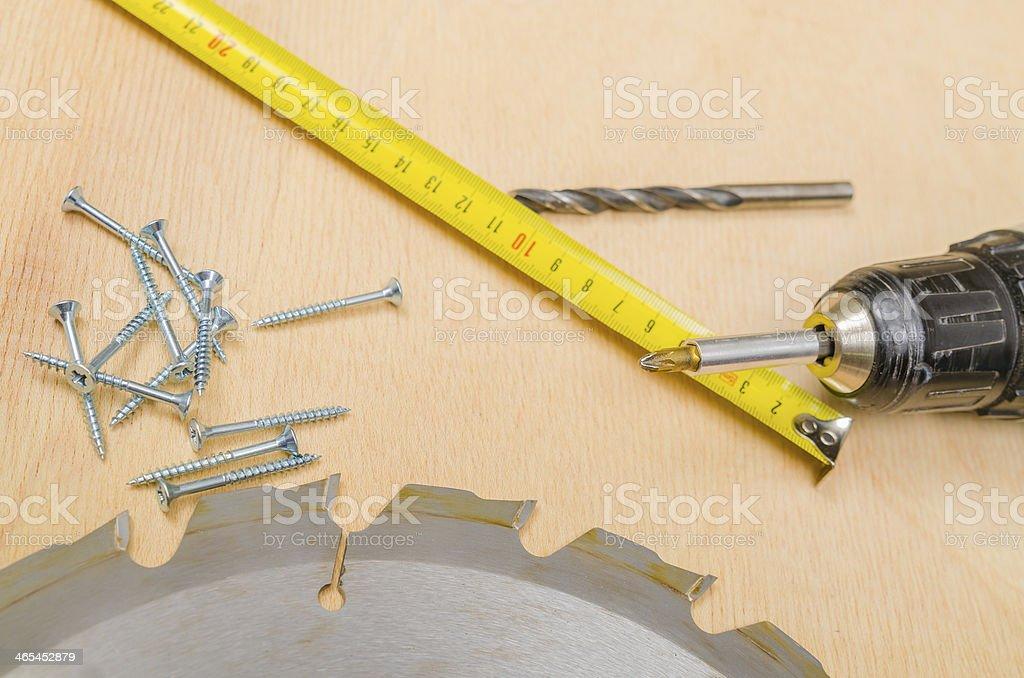 Assembling furniture stock photo