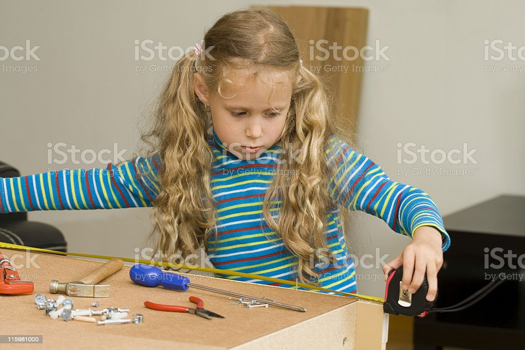Assembling new furniture royalty-free stock photo