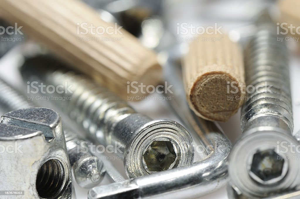 Assembly kit for furniture royalty-free stock photo