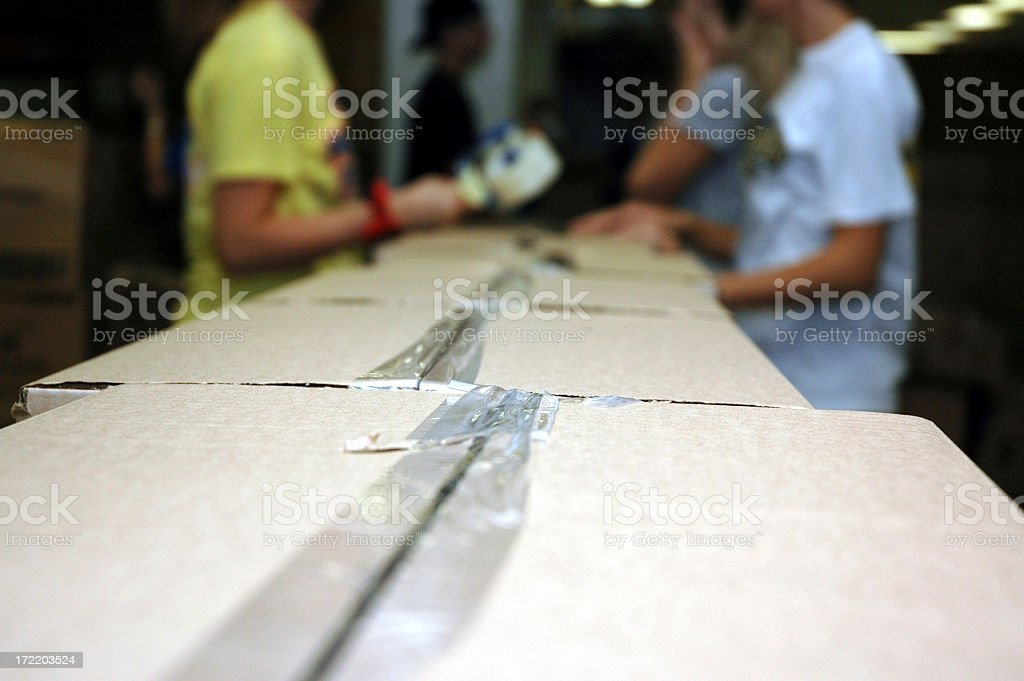 Assembly Line - Team Work royalty-free stock photo