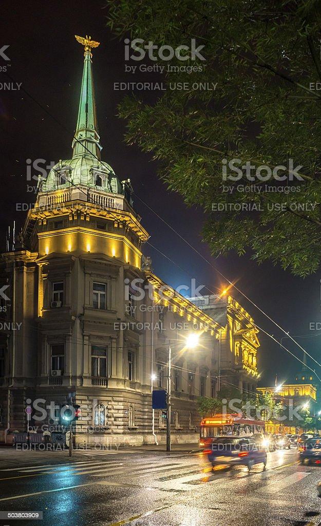 Assembly of the City of Belgrade stock photo