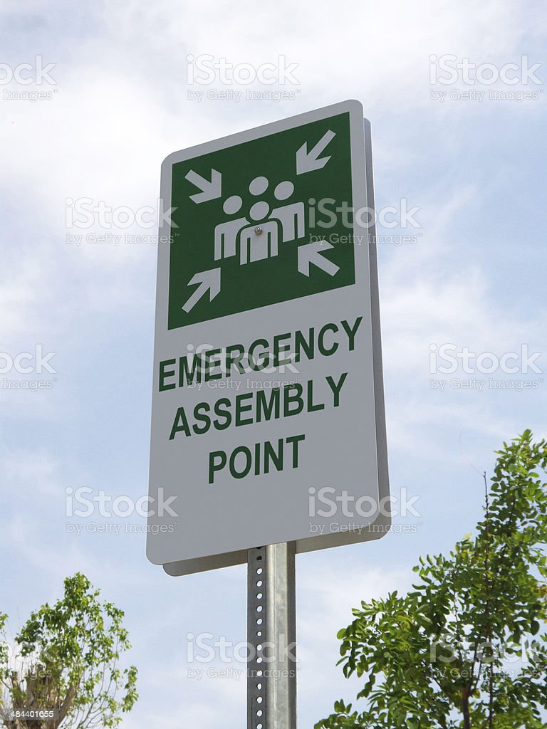 Assembly point stock photo
