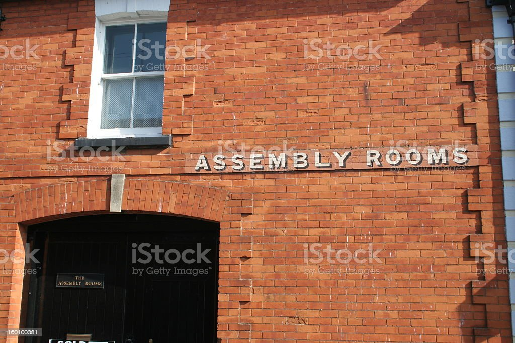 Assembly Rooms stock photo