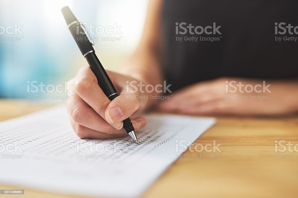 Assessment time stock photo