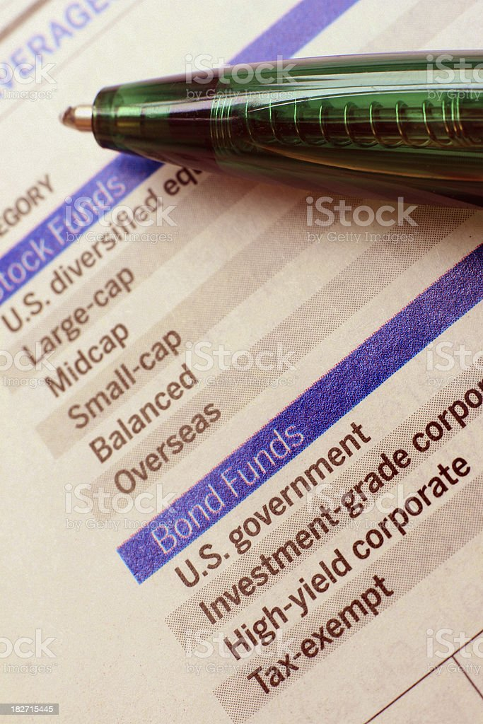Asset Allocation and Diversification royalty-free stock photo