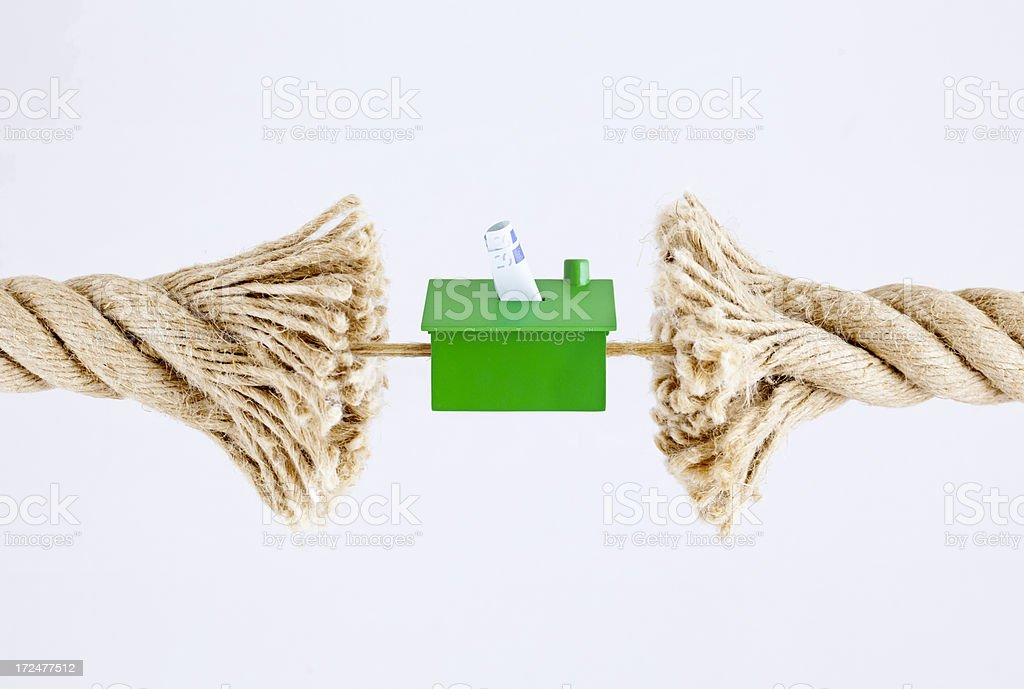 Asset Division in Divorce Euros stock photo