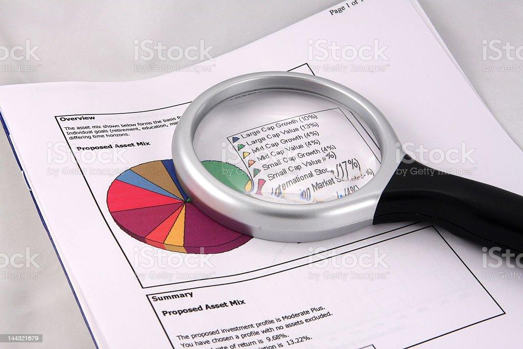 Asset mix pie chart royalty-free stock photo