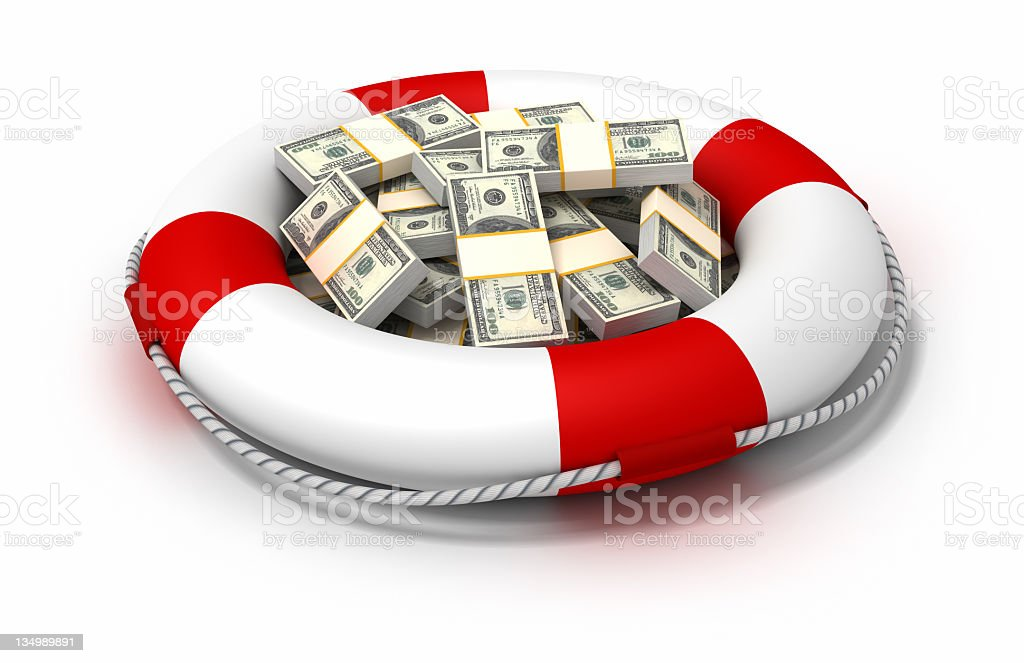 Assets and risks stock photo