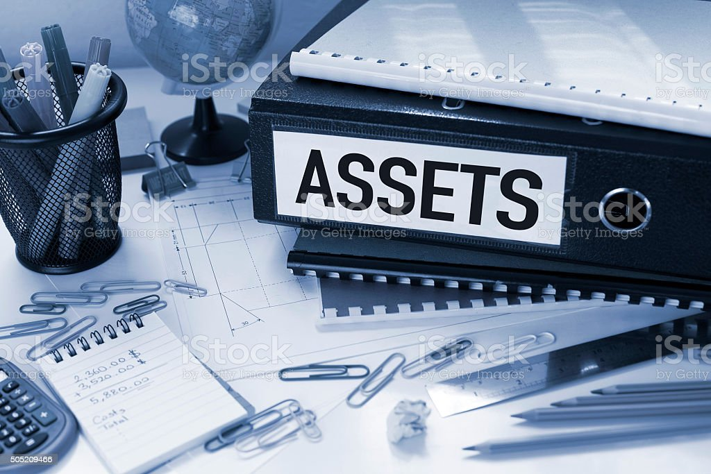 Assets File in Office stock photo