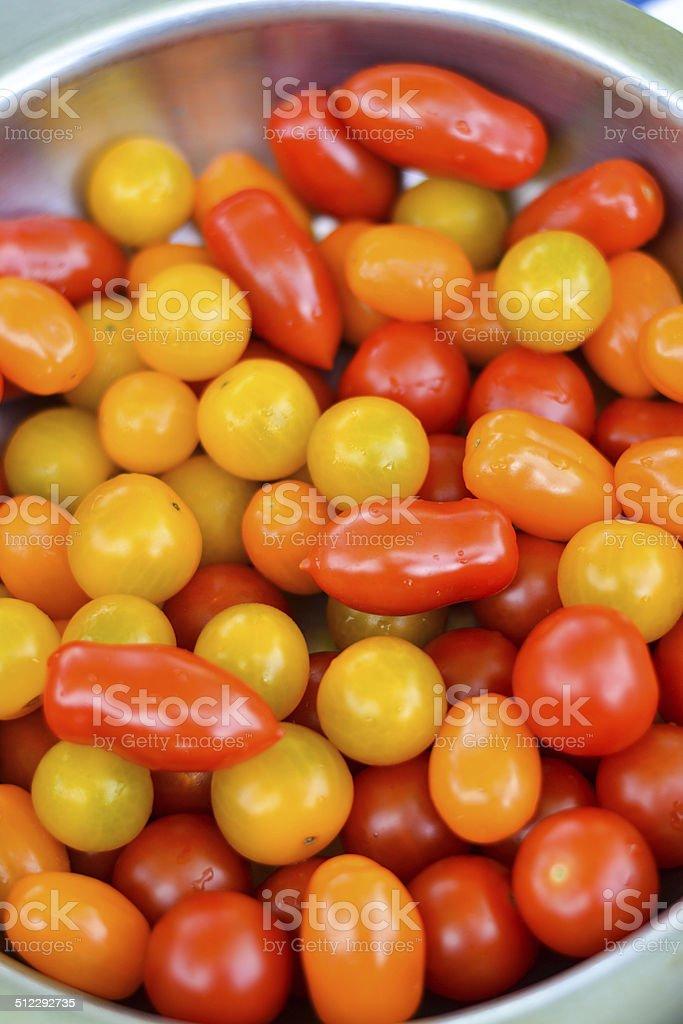 Assiettes de Tomates cerises, stock photo