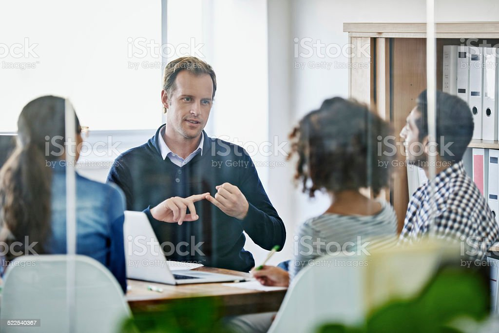 Assigning tasks stock photo