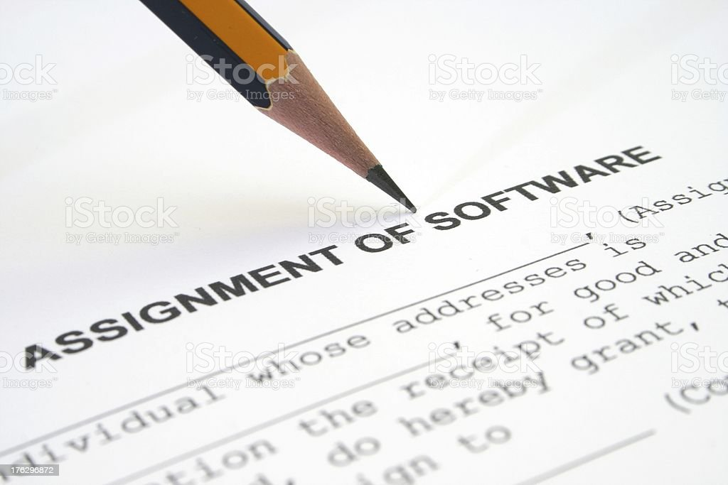 Assignment of software royalty-free stock photo