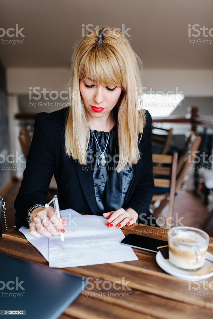 Assignment stock photo