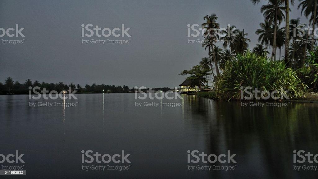 Assinie Mafia Lagoon stock photo