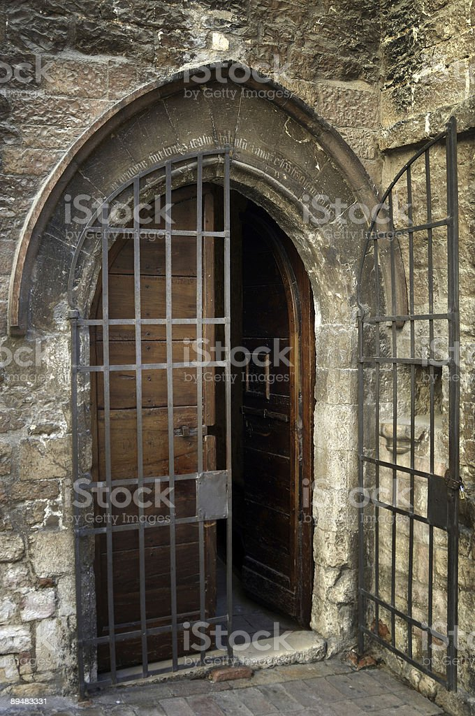 Assisi Chappel Door royalty-free stock photo
