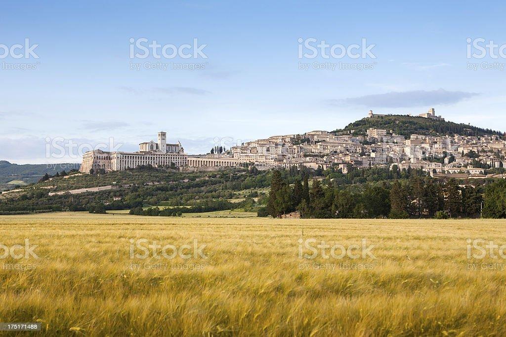 Assisi cityscape, Umbria Italy stock photo