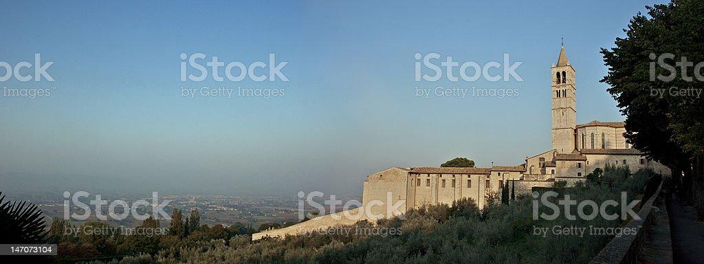 Assisi morning stock photo