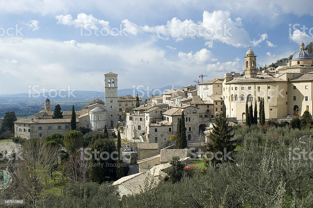 Assisi Panorama stock photo