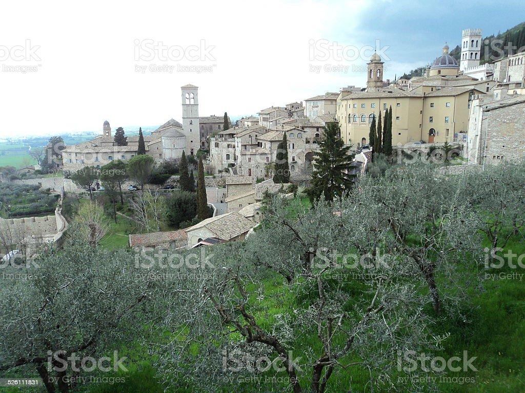 Asís, Perugia, Italia foto de stock libre de derechos