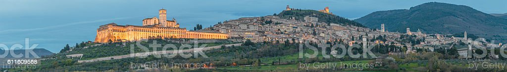 Assisi - the ancient city of St. Francis stock photo