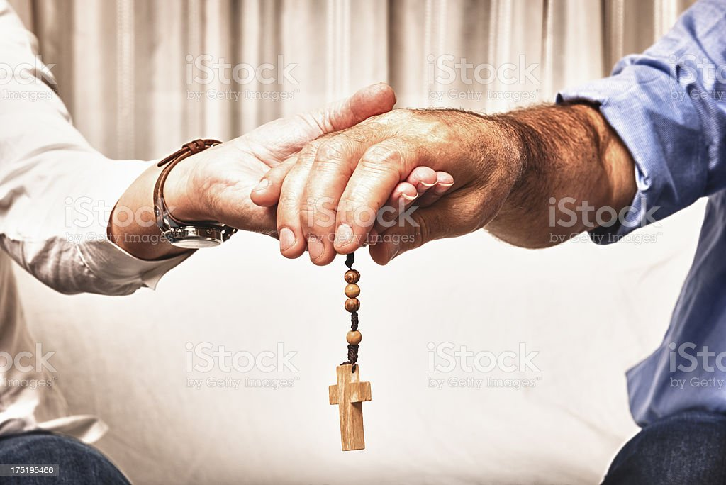 Assistance with religion - 60's royalty-free stock photo