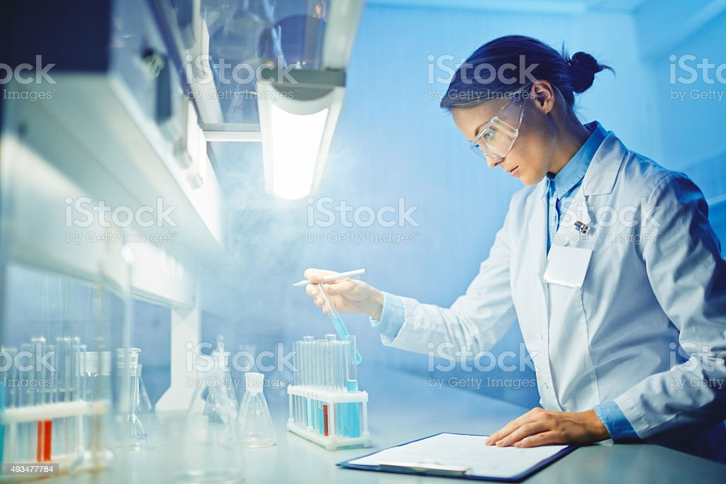 Assistant at work stock photo