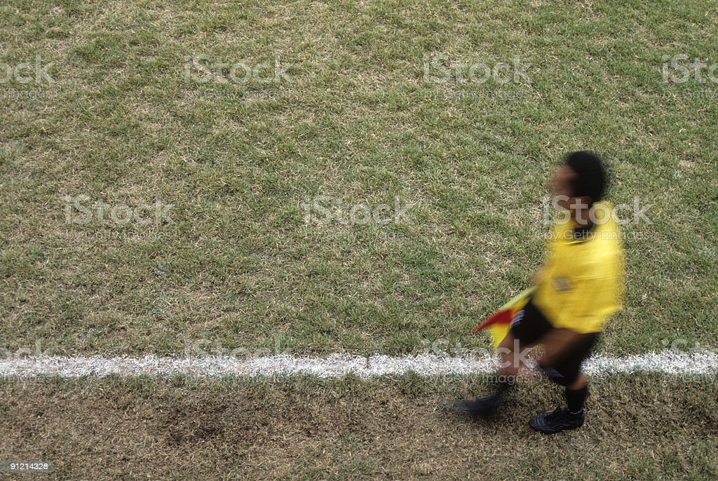 Assistant referee royalty-free stock photo
