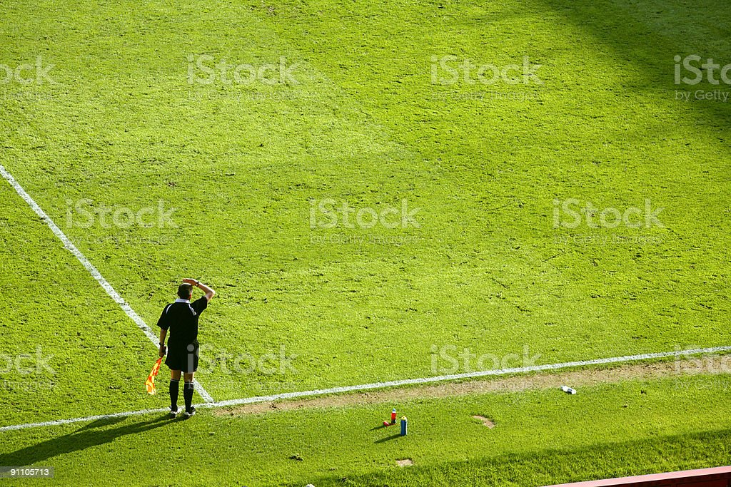 Assistant Referee/Touch Judge/Linesman-Alternative view below stock photo