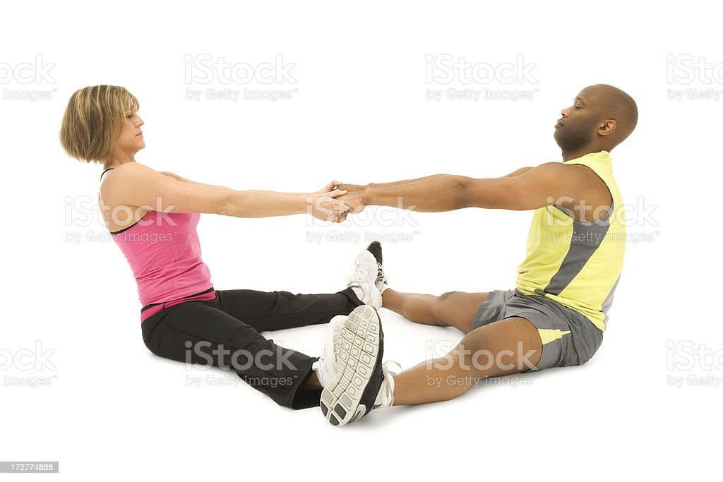 Assisted Stretch royalty-free stock photo